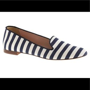 J. Crew Shoes - J. Crew CLEO Leather and Canvas Flats Size 8